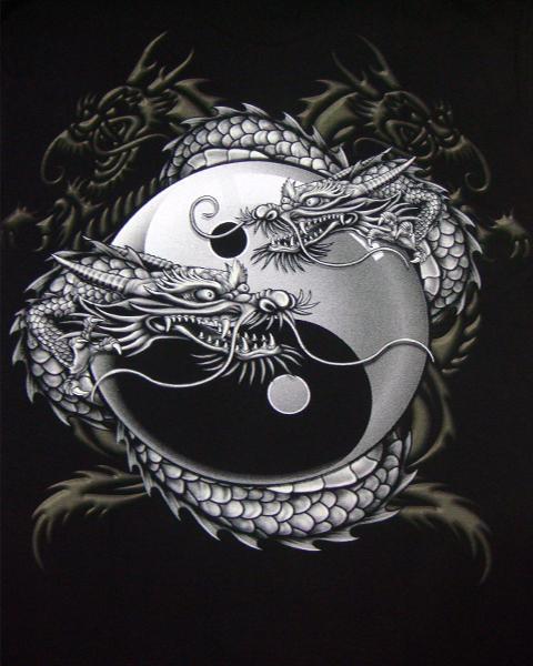 Chinese Dragon Yin Yang Shirts