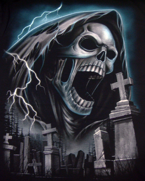 Screaming Grim Reaper T-shirt | T-Shirts | Mens | Tattoo