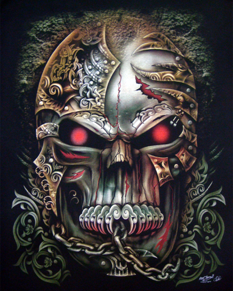 Tattoo Style Skull T Shirt T Shirts Mens Tattoo Biker Rock