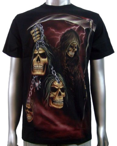 Grim Reaper Skulls T-shirt: click to enlarge