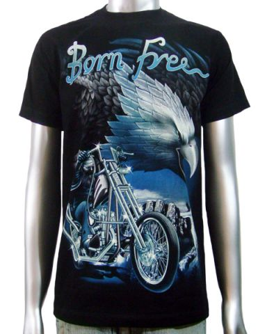 Born Free Eagle Chopper T-shirt: click to enlarge