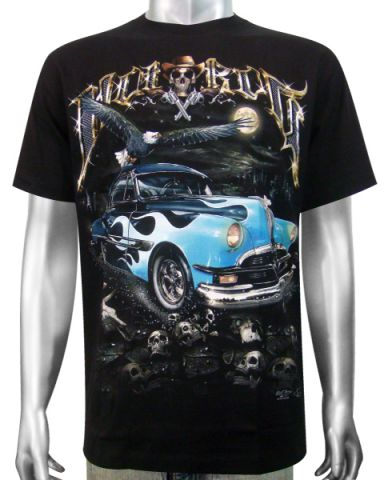 Hot Rod ( Blue Ford ) T-shirt: click to enlarge