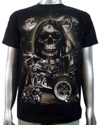 Indian Skull Chopper Trike T-shirt: click to enlarge