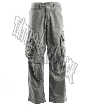 Molecule Mens Grey Combat Trousers: click to enlarge
