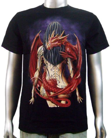 Chinese Dragon Tattoo Girl T-shirt: click to enlarge