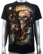 3D Piercing Pirate Skull T-shirt