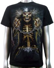 Skeleton Biker Skulls T-shirt