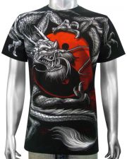 Asian Dragon Yin-Yang T-shirt