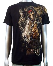 Skeleton Gangster Chopper T-shirt