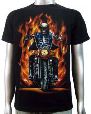 Skeleton Biker Chopper T-shirt