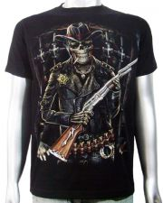 Skeleton Sheriff Shotgun T-shirt