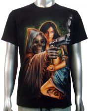 Reaper Handgun & Girl T-shirt