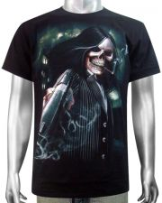 Skeleton Gangster Revolver T-shirt