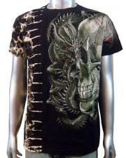 Skull & Chinese Dragon T-shirt