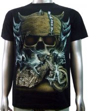 Viking Helmet Chopper T-shirt